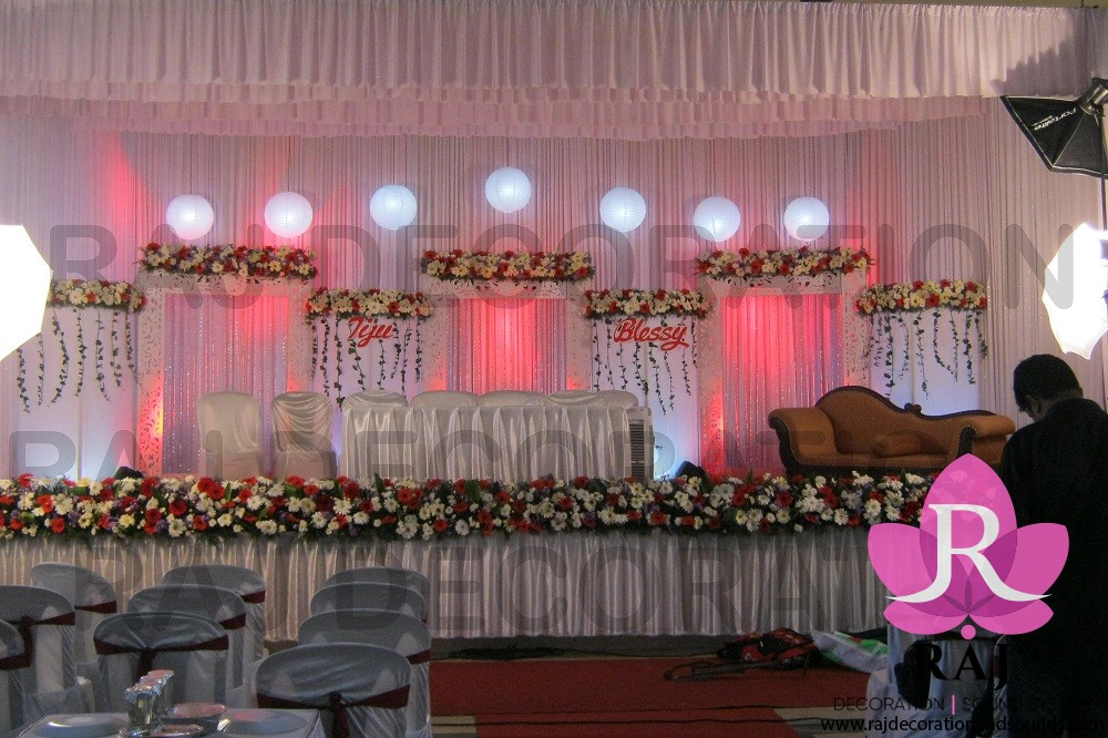 raj_decorations_Christian Stage Decoration